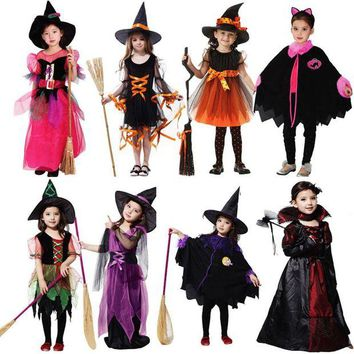 DCCKH6B Women Girls Witch Costume Lovely Vampire Clothing Cosplay Carnival Halloween Fancy Dress Supplies