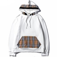 Burberry  Women or Men Fashion Casual Loose Top Sweater Hoodie
