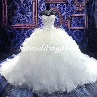 New White/ivory Wedding Dress Custom Size 2-4-6-8-10-12-14-16-18-20-22-24-26-28++++