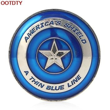 Collectible Coin Thin Blue Line Lives Matter Police America's Shield Commemorative Challenge Coin D13