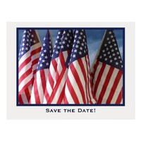 Save the Date 70th Birthday Party Postcard, Flags Postcard