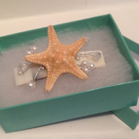 Real Starfish Hair Barrette  by byElizabethSwan on Etsy