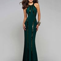 Sequin Fishtail Maxi Dress