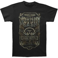 Johnny Cash Men's  Retro Type T-shirt Black