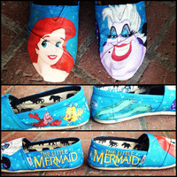 Custom Hand Painted Shoes Toms by ShoesByKoo on Etsy
