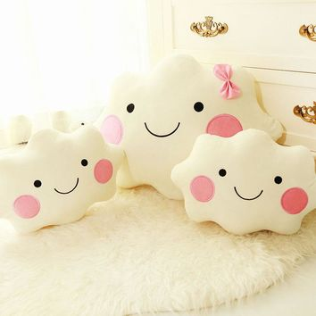 Cute plush pillow cloud Creative Cute Car Home Cushion Birthday Gift Give your child good family decorations for his family