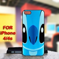 Cute Stitch For IPhone 4 or 4S Black Case Cover