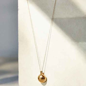 Metalepsis Projects Q High Polish Pendant Necklace- Gold One