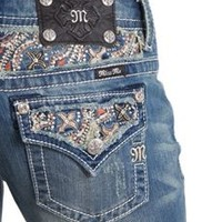 Miss Me Bootcut Jeans with Colorful Flap Pockets JP8235B