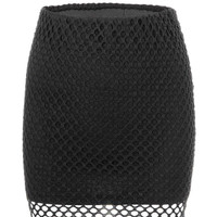 Black Cut Out Double Layer Skirt