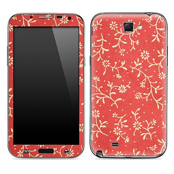 Red Vintage Floral Skin for the Samsung Galaxy Note 1 or 2