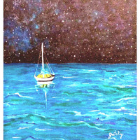 Paintings by gretzky — Sailboat Under the Stars Tutorial
