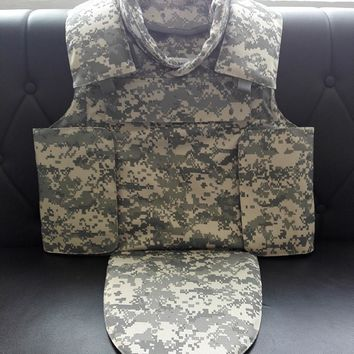 NIJ IIIA Kevlar Bulletproof Vest Full Protection Body Armor