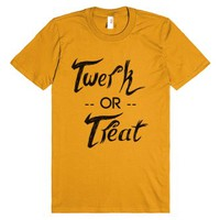 Twerk or Treat (ORANGE)-Unisex Mandarin Orange T-Shirt