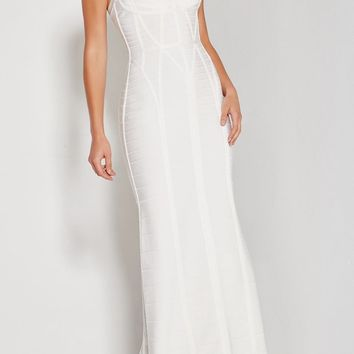 Claire White A-Line Bandage Gown