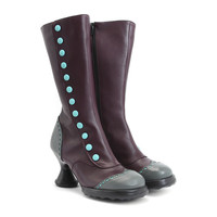 Fluevog Shoes | Shop | Babycake (Purple & Teal)