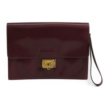 Hermes Jet Women's Box Calf Leather Clutch Bag Rouge H BF320149