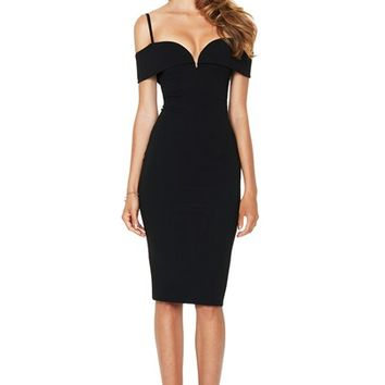 Black Pretty Woman Midi Dress : Buy Designer Dresses Online at Nookie