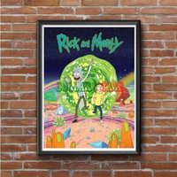 Rick and Morty Planet Photo Poster