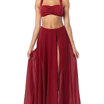 I Am Here You Are There Maxi Skirt
