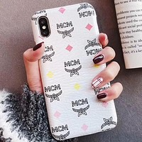MCM Phone Cover Case For iphone 6 6s 6plus 6s-plus 7 7plus 8 8plus iPhone X XS XS max XR