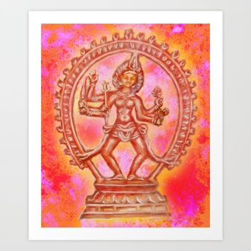 Kali, The Hindu Goddess of Power Art Print by Littlelotusflowers