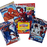 Marvel Spiderman Activity Set / Stocking Stuffers (5 Piece Bundle)