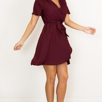 Love On Me dress in wine Produced By SHOWPO