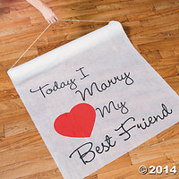 """""""Today I Marry My Best Friend"""" Aisle Runner"""