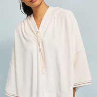Draped Hooded Pullover