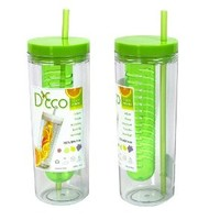 Fruit Infuser Water Bottle by D'Eco (Green)
