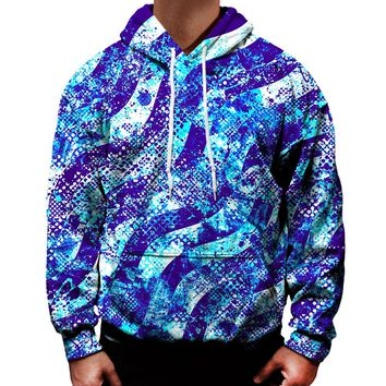 Abstract Blue Waves Hoodie