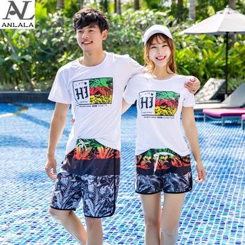 summer Couple Quick-drying Loose Geometric patterns Large size Surfing Beach pants
