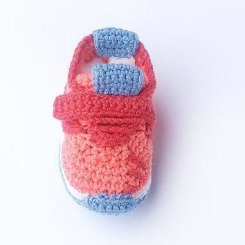 Crochet baby sneakers, Crochet Adidas Pure Boost style baby shoes, Crochet sneakers, I