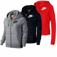 DCCKN7K Nike Black Zip Up Hoodie Jacket Sweater Sweatshirts