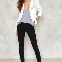 Ride On Vegan Leather Cropped Moto Jacket