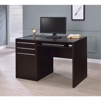 Contemporary Wooden Connect-IT Computer Desk, Brown