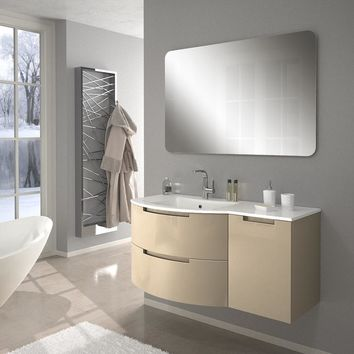 Oasis 43 in. Wall Mounted Bathroom Vanity Right Cabinet Set Bath Furniture