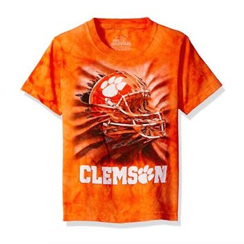Clemson Tigers T-shirt Helmet Logo Adult Tee by The Mountain