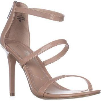 Charles Charles David Ria Strappy Heeled Sandals, Nude Patent, 8 US