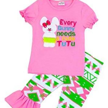 "Girls Easter ""Every Bunny Needs a Tutu"" Boutique Outfit"