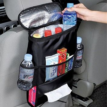 Auto Car Seat Back Organizer Multi-Pocket For Travel  Water Book Bottle Storage Etc.