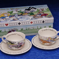 Alice in Wonderland Tea Party Teapot Tea Cups Teacups Mad Hatter Hats Alice in Wonderland Tea Party Favors Tea Set