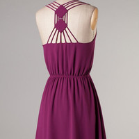 Twist and Shout Dress - Magenta - Hazel & Olive