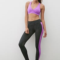 Colorblock Mesh-Paneled Leggings