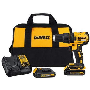 DEWALT 20-Volt MAX Lithium-Ion Cordless Brushless Compact Drill Driver with (2) Batteries 1.3Ah, Charger and Bag-DCD777C2 - The Home Depot