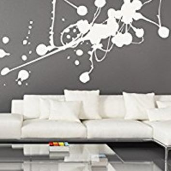 Wall Decal Vinyl Sticker Decals Art Decor Design Paint Splash Color Mural Pattern Homeware Abstract Kids Nursery Dorm Office Bedroom(r694)