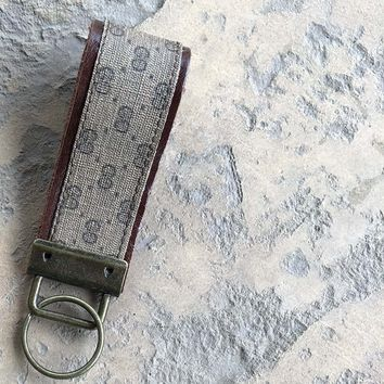 Upcycled Vintage Gucci Micro GG Key Fob