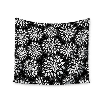 "Julia Grifol ""Black And White Garden"" Digital Vector Wall Tapestry"