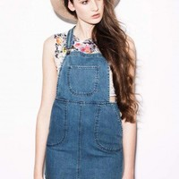 Layne Denim Dungaree Dress - Clothing